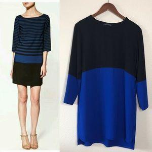 Zara Woman • Color block Long Sleeve shift dress